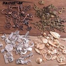 Pulchrode 20 шт винтажный металлический 4 цвета смешанный размер 20-200 стильные Подвески для самостоятельного изготовления ювелирных изделий ручной работы P6664