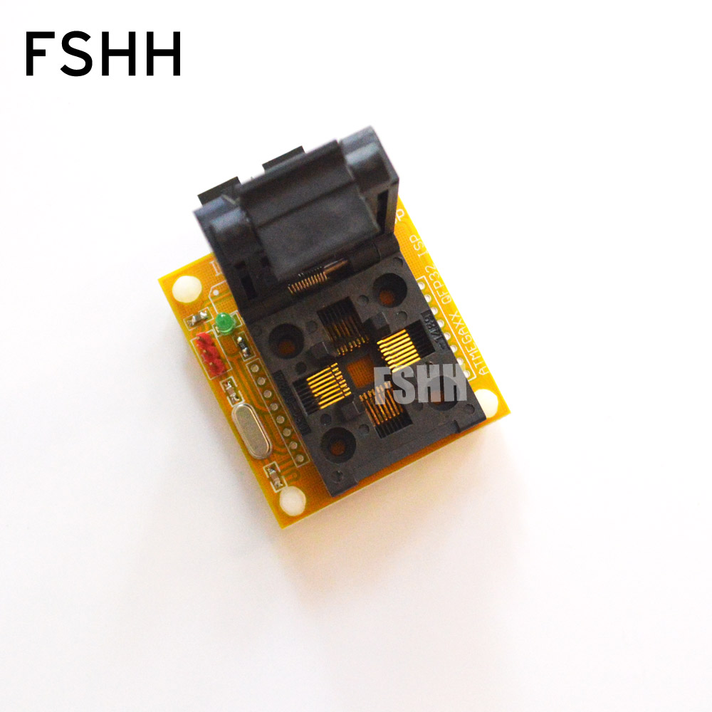 IC TEST TQFP32 QFP32 Test Socket For AVR ISP Test  Mega8 Mega48 Mega88  Adapter