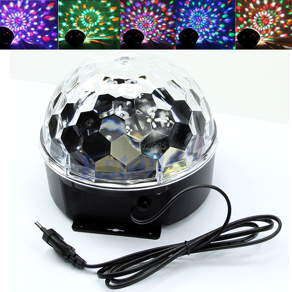 RGB LED Disco Stage Light Lighting Digital Crystal Magic Ball Effect EU Plug July1 Drop Ship