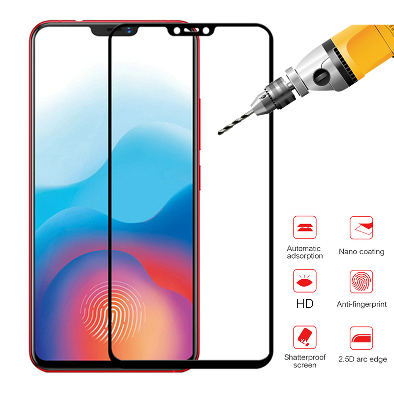 9H For Vivo Y81 V9 Full Cover Protective Glass Case Screen Protector On For Vivo Nex S Tempered Glass Sceen Glas Y 81 V 9 Nexs