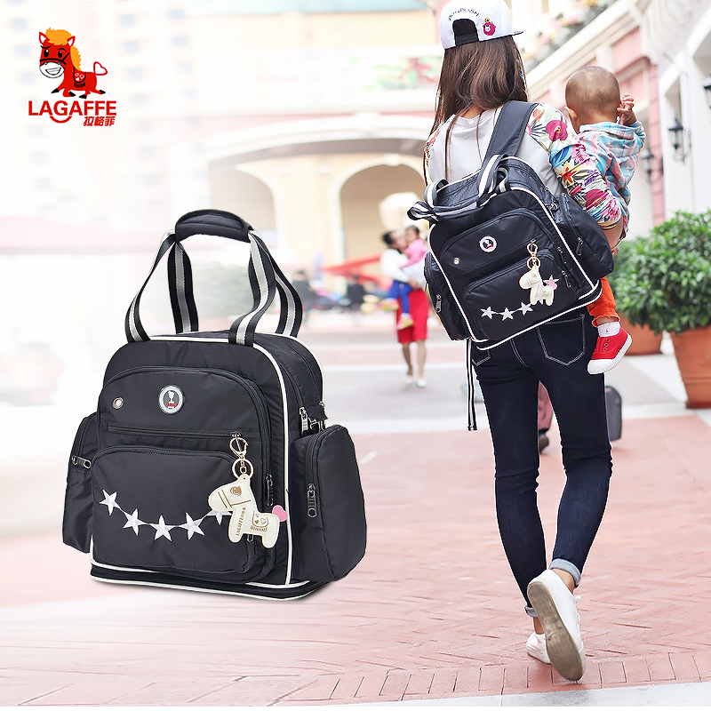 LAGAFFE Mummy Maternity Cartoon Stars Nappy Bag Multifunction Large Capacity Loading 15 Liters Travel Handbag Backpack