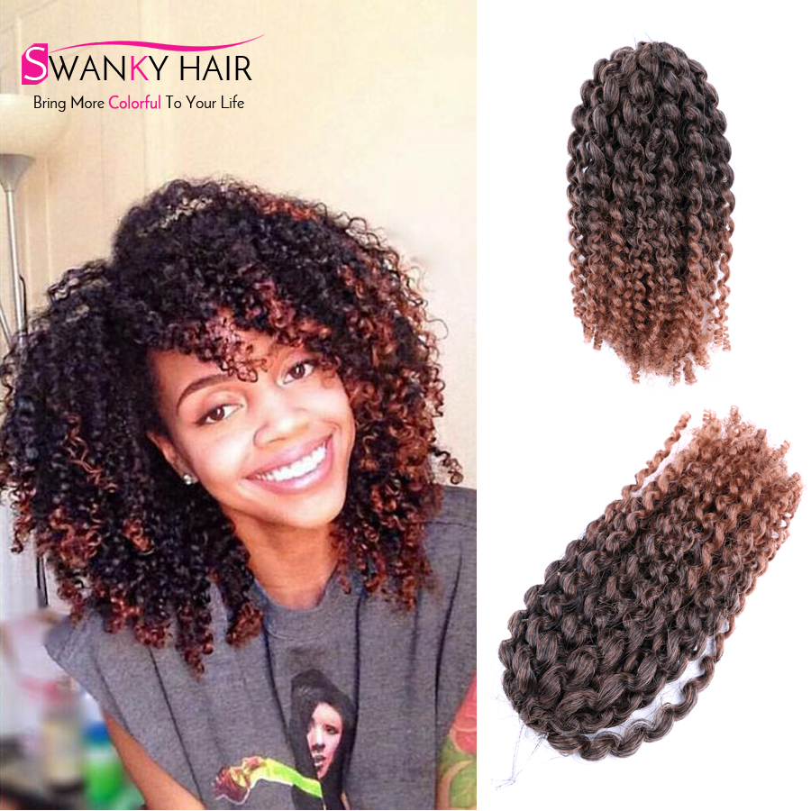 3pcs/lot marlybob curly crochet hair extensions 8''afro