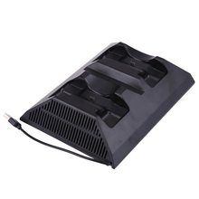 New 4 In 1 Multi-Function Handle Cooling Fan Seat Charger for Xbox One Wireless Gamepad Controllers Cooler Stand