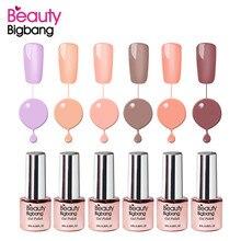 BeautyBigBang Nail Gel Polish 6ML Pure Color UV LED Lamp Gel Varnishes For Nail Art Design Manicure Top Soak off Nail Gel Polish недорго, оригинальная цена