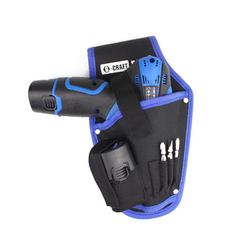 PEGASI High Quality Tool Bag Portable Cordless Drill Holder Holst Tool Pouch For Drill Waist polyester screwdriver drill storage tool bag toolkit waist pack waist strap 600d polyester electric cordless drill holder waist