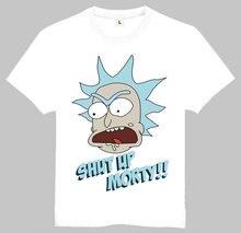 Free Shipping Free Rick T-Shirt Short Sleeve Teenages Look at me Morty and Rick Top Tees Shirt