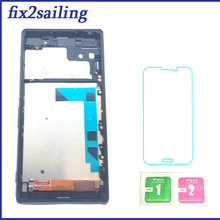 ФОТО for sony xperia z3 lcd display touch screen d6603 d6633 d6643 d6653 assembly replacement digitizer with frame