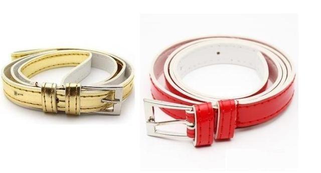 Free shipping T-0152 simple female fashion Korean version of the wholesale super Joker candy PU leather fine belt / waist belt