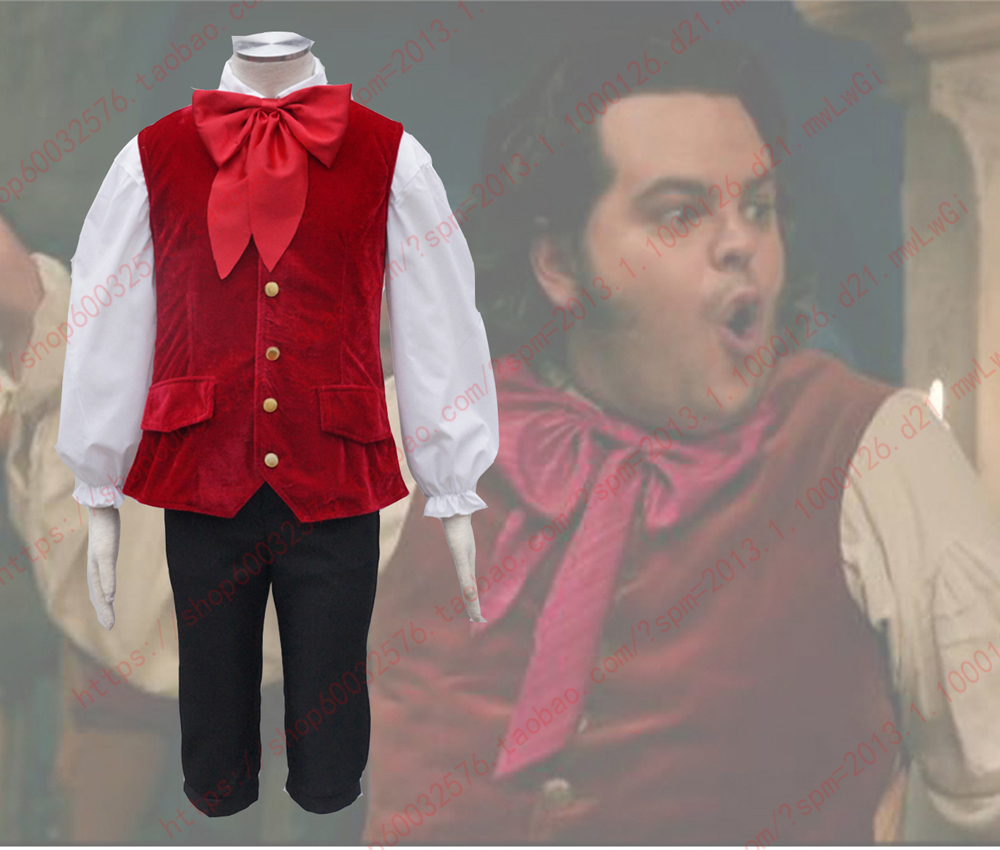 2017 Movie Beauty and The Beast Le Fou Costume Men Cosplay Vest Josh Gad outfits  any size/Custom-made