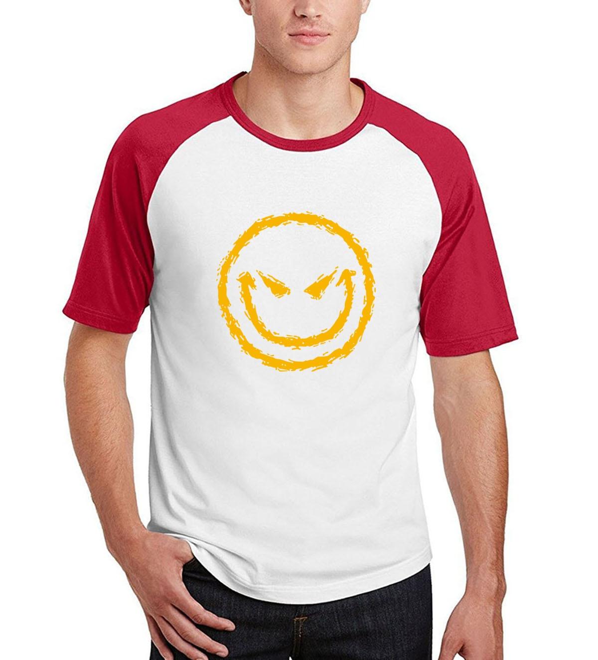 harajuku kpop brand camisetas homme kpop Smiley Face t shirt 2019 men cotton fitness short sleeve tops summer casual raglan tees