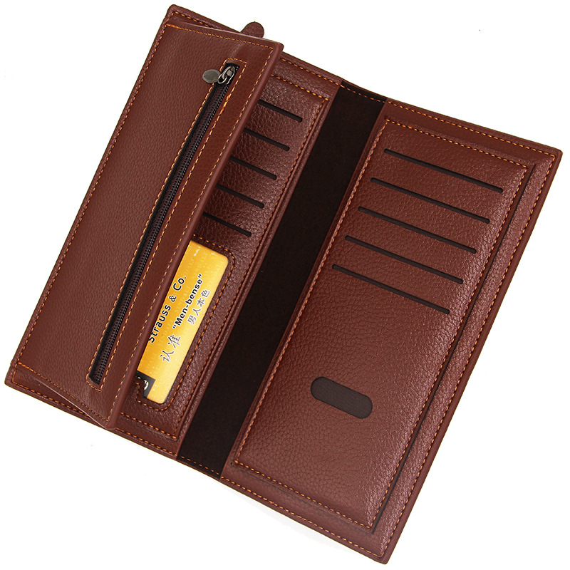 Marque affaires hommes portefeuilles slim portefeuille long sac à main long homme embrayage en cuir carte et porte-monnaie hommes sac d'argent garantie de qualité