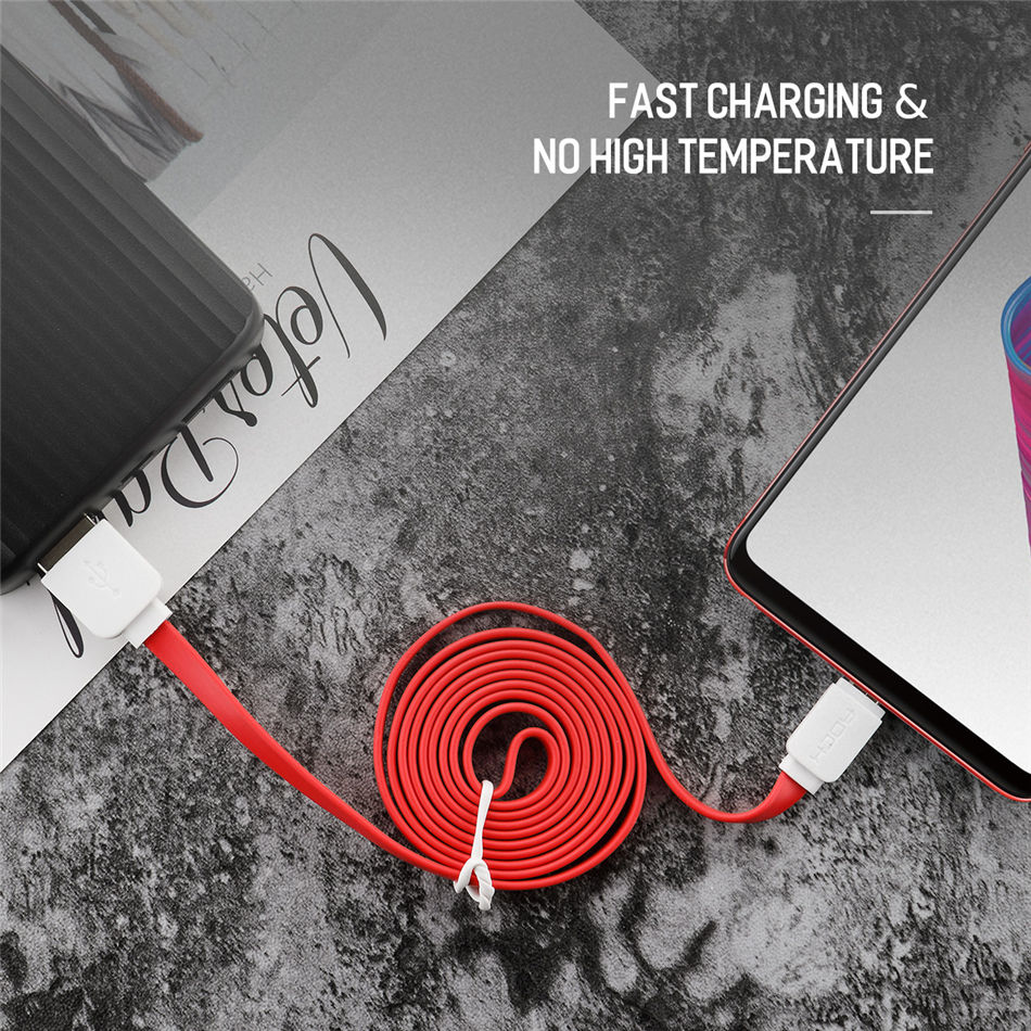 Rock Original Micro Usb Cable For Samsung Xiaomi Meizu Htc Huawei Kabel Data Fast Charging Cables Android Mobile Phone Buymecomau