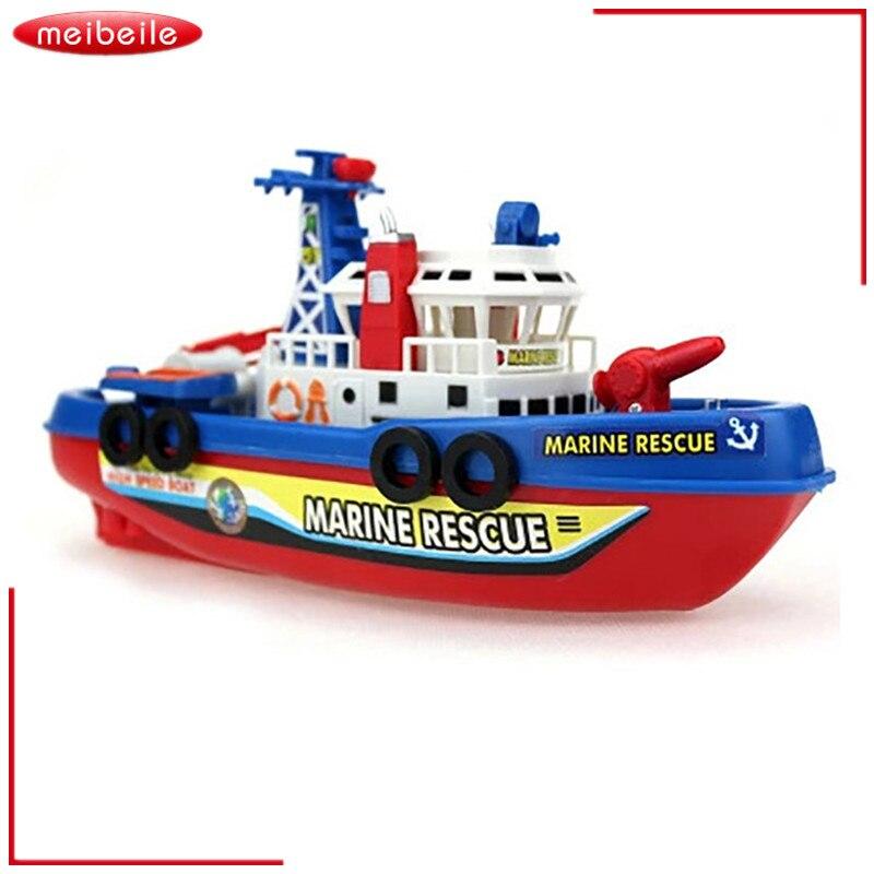 Elektrisk brandbåt Spray Light Musik kan vara i vattnet Navigationsmodell Leksaker Brandbekämpning Vattennavigationsmodell