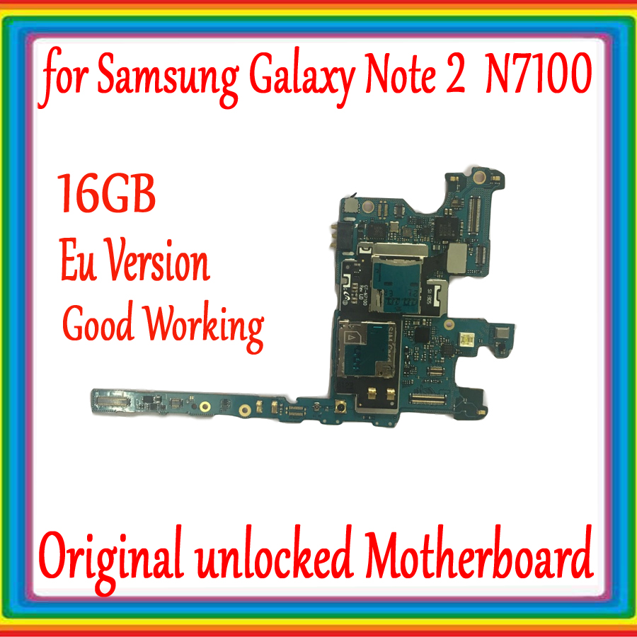 Well worked For Samsung Galaxy Note 2 N7100 Motherboard Unlocked mainboard For Samsung Galaxy Note 2 N7100 Logic Board+chipsWell worked For Samsung Galaxy Note 2 N7100 Motherboard Unlocked mainboard For Samsung Galaxy Note 2 N7100 Logic Board+chips
