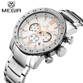 MEGIR Official Dress Quartz men Watches Men Military Big 3D Dial Display Men Sports Watch Waterproof Luminous Relogio Masculino