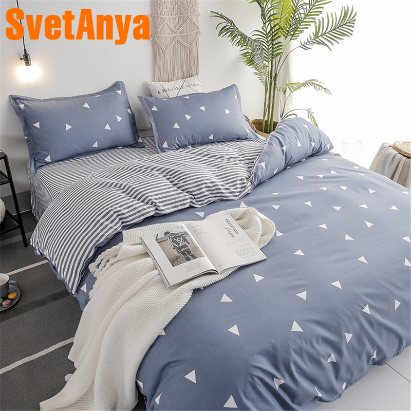 Svetanya Bed Linens Sheet Pillowcase Duvet Cover Set Cheap Bedding Set Single Double Bed Size(China)