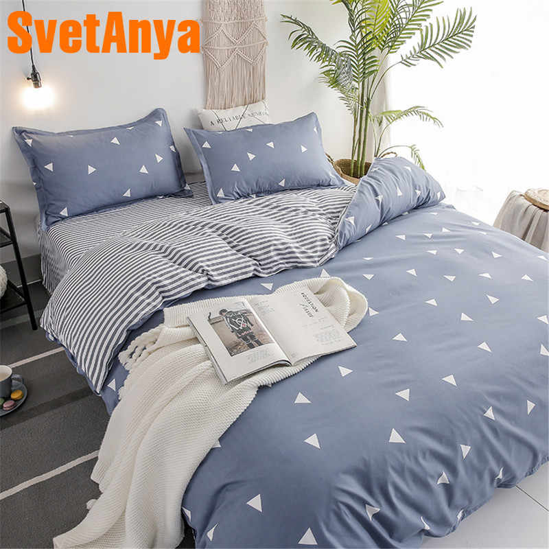 Svetanya Bed Linens Sheet Pillowcase Duvet Cover Set Cheap Bedding Set Single Double Bed Size