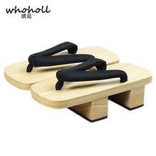WHOHOLL Flip-flops women sandals 2017 platform Summer Japanese geta cosplay Clogs shoes Wooden Slippers sandalia feminina
