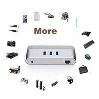 USB HUB Netwerkkaart Type-C Om USB3.0 + RJ45 Adapter OTG Combo 1000 Mbps Voor Mobiele Telefoon Harde Disk Muis Toetsenbord Laptop XXM