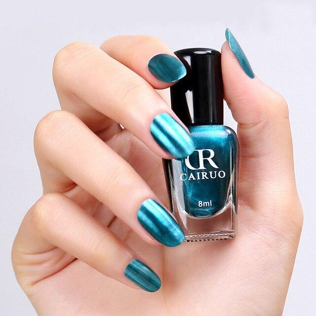 CR 8 ml espejo Esmaltes laca de uñas metálica colorido espejo efecto ...