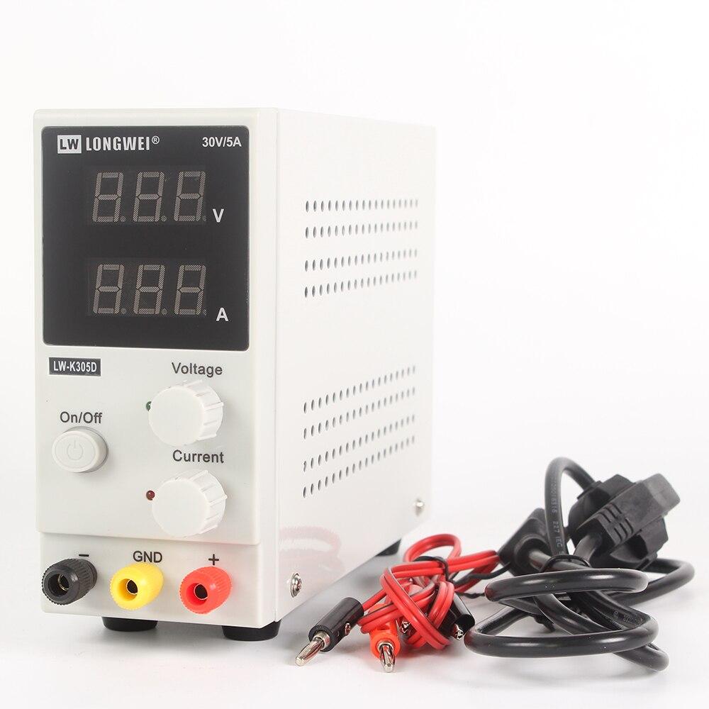 Mini DC Power Supply Voltage Regulators LW K305D 30V 5A Switching Laboratory 110V 220V Digital Display