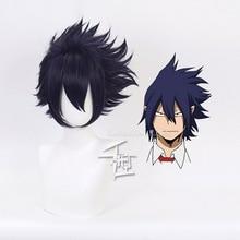 My Hero Academy Boku no Hiro Akademia Amajiki Tamaki темно-синий короткий парик для косплея синтетические волосы Perucas+ парик шапка