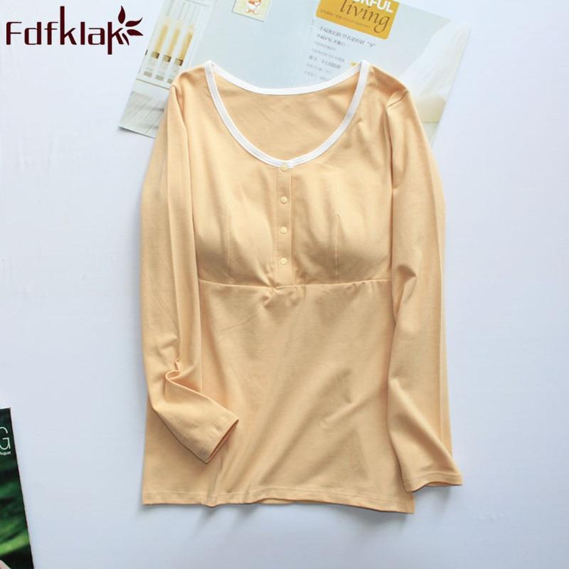 Fdfklak Spring Summer Maternity Clothes Nursing Clothes Pajama Pregnancy Clothes Nursing Pyjama Breastfeeding Sleepwear F138