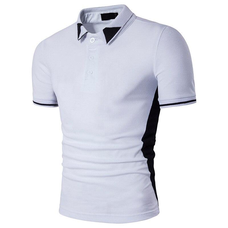 Summer Men's Fashion Casual Tops Men's Pesonality Short Sleeve Polo mens clothing shirts men cotton Shirt