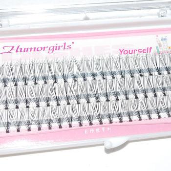 1 Set of Natural Long Black Individual False Eyelashes Eye Lash Extension Makeup Tool New size 8/10/12mm