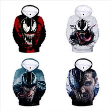 Free shipping American film venom spiderman men and women hoodie clothes 3D printed Sweatshirts JQ-2636