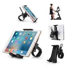 Cycling Bike Mount Portable Compact Tablet Holder for Gym Handlebar on Exercise Bike Treadmill Swivel Stand