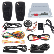PKE car alarm system psssive keyless entry kit ,auto start  stop & push button start stop touch password entry auto lock unlock