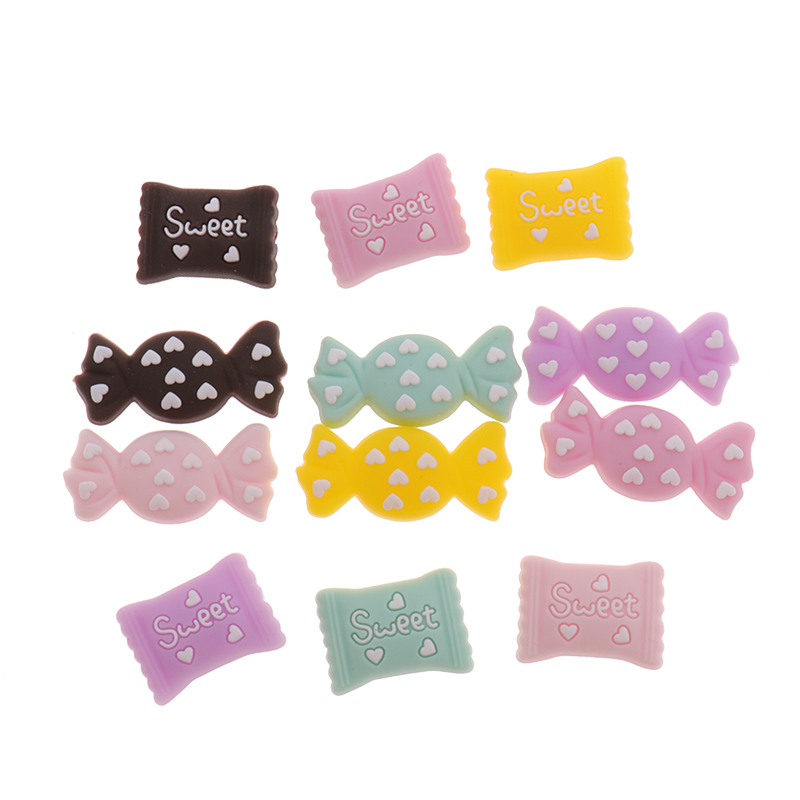 5pc Silicone Candy Sweety Beads Sugar Bpa Free Baby Teething Teether Necklace DIY Jewelry Chewing Pacifier Chain Penguin Fox