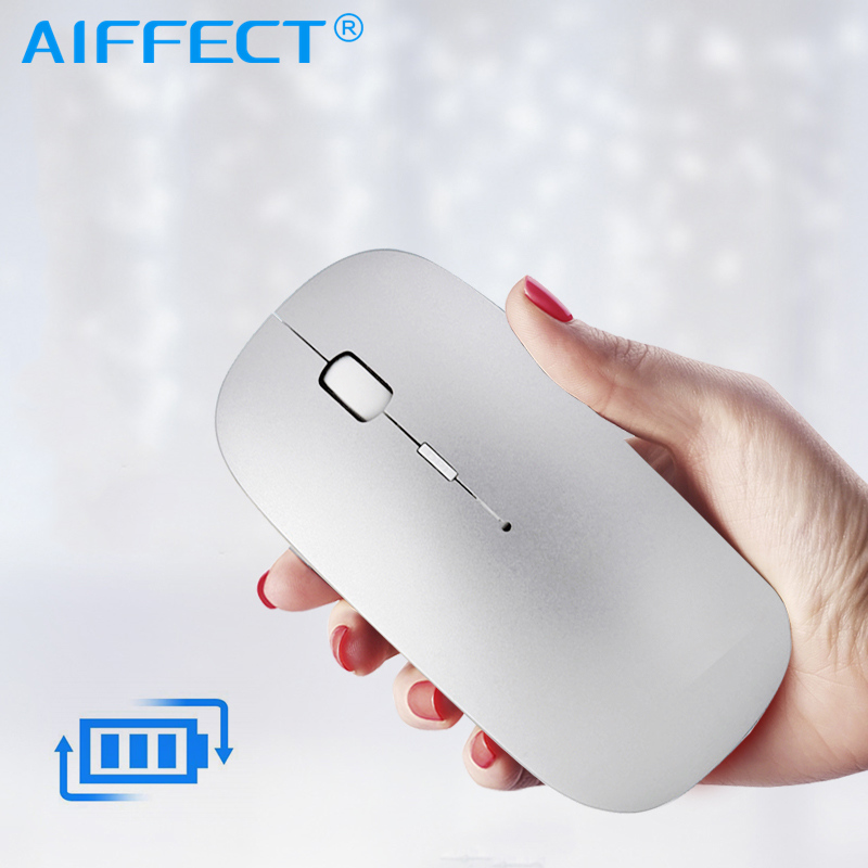 AIFFECT Wireless Mouse Rechargeable,inphic Mute Silent Click Mini Noiseless Optical Mice,Ultra Thin 1600 DPI For Notebook,PC