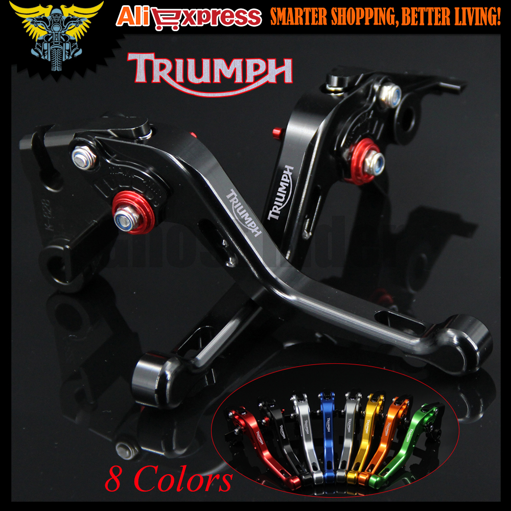 For Triumph 675 STREET TRIPLE 2008 2009 2010 2011 2012 2013 2014 2015 Black CNC 2 finger Short Motorcycle Brake Clutch Levers cnc anti slip 3d folding brake clutch levers for triumph daytona 675 r 2011 2014