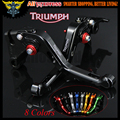 For Triumph 675 STREET TRIPLE 2008 2009 2010 2011 2012 2013 2014 2015 Black CNC 2 finger Short Motorcycle Brake Clutch Levers