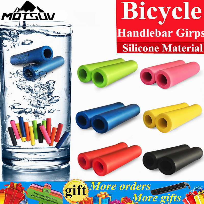 Bike Girps UltraLight Silicone Material Handlebar Girps High Density MTB Bicycle Handlebar Anti-slip Cycling Grips Bicycle Parts