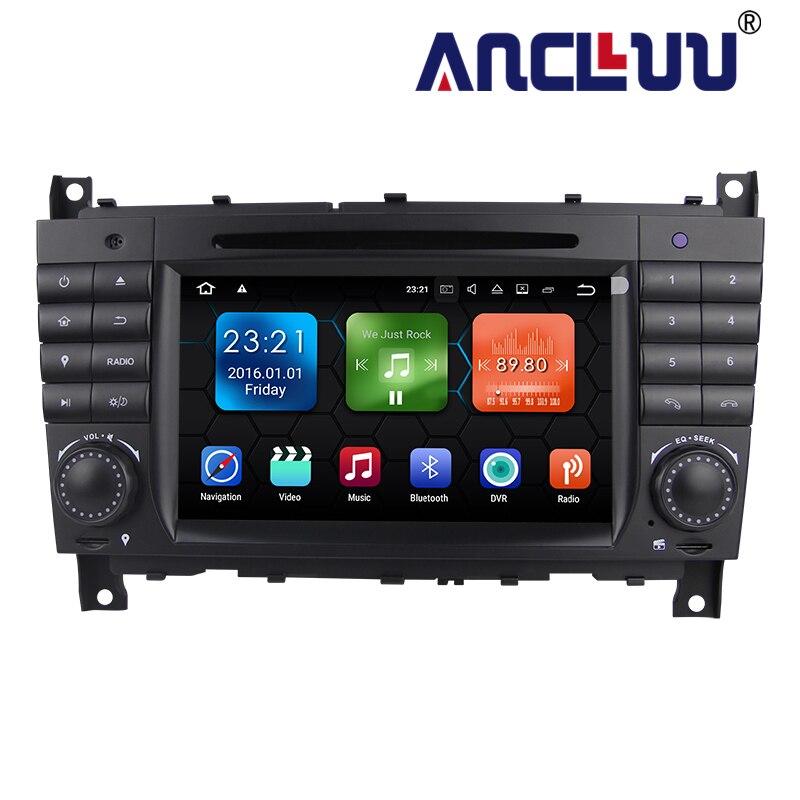 2G RAM Android 9.0 voiture DVD GPS pour Mercedes/Benz classe C W203 2004-2007 c200 C230 C240 C320 C350 CLK W209 2005 autoradio stéréo