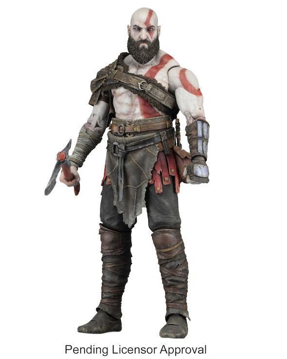 Tobyfancy NECA Game God Of War Kratos With Axe PVC Action Figure 7 inch Collectables Model Toy 12 neca toys god of war action figures 2 infamous kratos figure pvc action figure model toy gw005