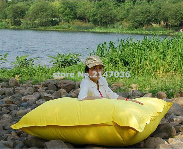 Yellow Oversized Waterproof Outdoor Adult Square Folding Beanbag Chair Sitting Bean Bag Puff In Living Room Sofas From Furniture On Aliexpress
