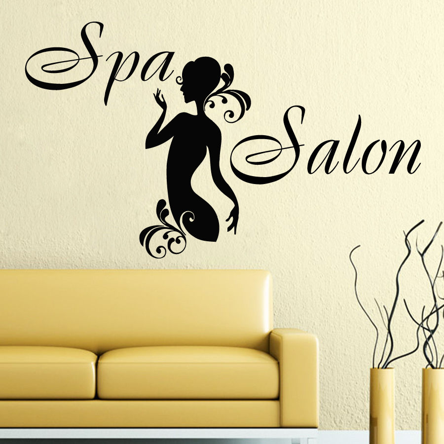 Wall Decals Spa Salon Bamboo Lotus Decal Vinyl Sticker Home Decor ...