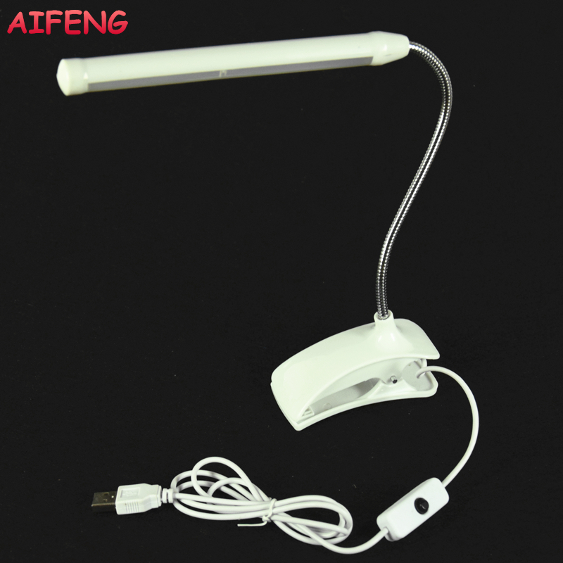 AIFENG 13Leds Led Desk Lamp 5V USB Operated Desk Lamp Flexible Gooseneck With Clip Book Light For Children Bedroom Reading Light laptop motherboard for aspire one 522 ao522 p0ve6 la 7072p mbsfh02001 amd c60 ddr3
