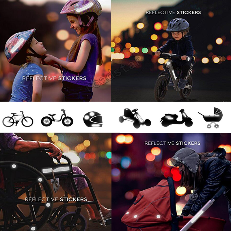 Купить с кэшбэком 10 pieces reflective sticker for pushchairs, bicycle helmets and more