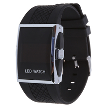 Wholesale5pcs*New Durable Black Luxury Digital Mens Red LED Light Sport Wrist Watch Gift Style