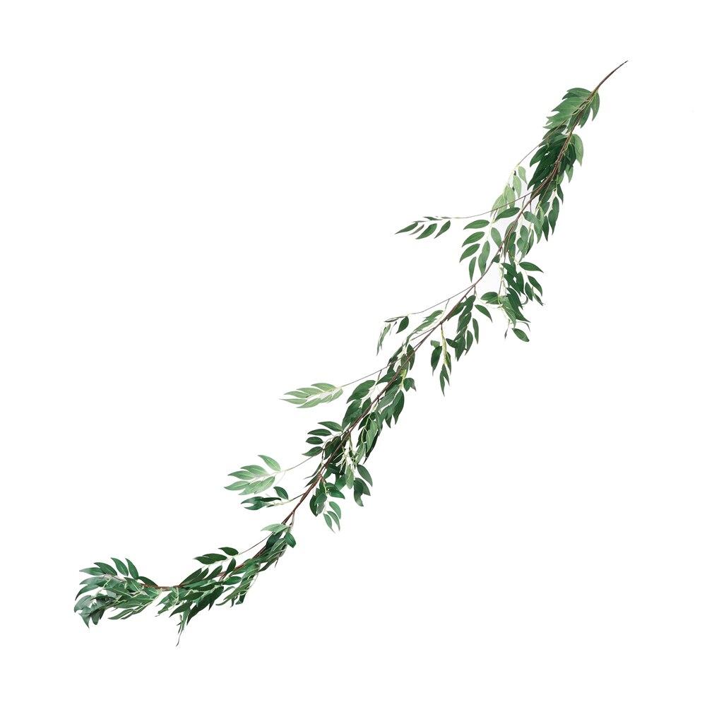 1,8 м Искусственный лист растения гирлянды искусственная Виноградная лоза Листва Цветы для дома украшения сада имитация зеленого растения