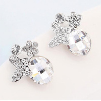 Trendy Popular Jewelry Austrian Crystal Butterfly Stud Earrings For Women Ladies High Quality Earings Nickle Free