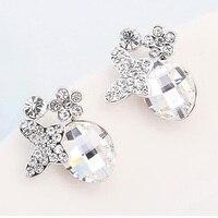 Trendy Popular Jewelry Austrian Crystal Butterfly Stud Earrings For Women Ladies High Quality Earings Nickle Free
