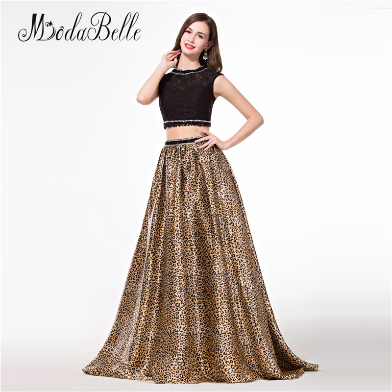 Modabelle Two Piece Vestido Floral Leopard Prom Dresses Beaded Lace