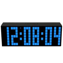 Mirror Screen LED Big Font Snooze Alarm Clock Bright Color Digital Electronic Despertador