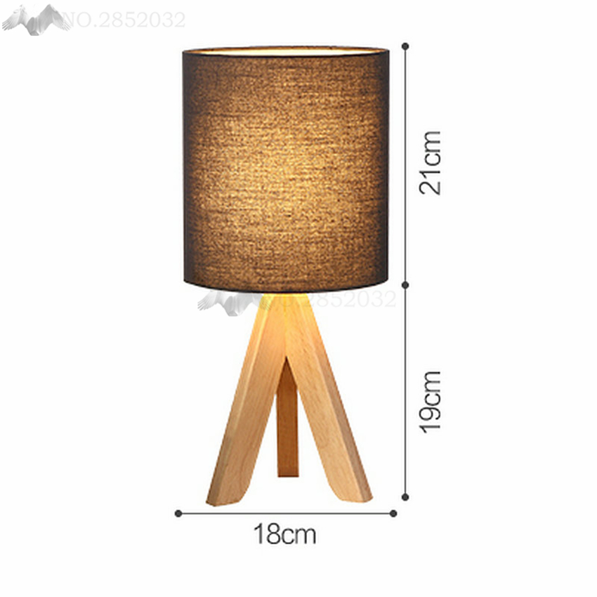 Jw_ Art Deco Table Lamp Wood Shade Study Living Bed Room Floor Lamp Lampada Luminarias Home Decoration Lighting Fixture Led Bulb Bright In Colour Floor Lamps